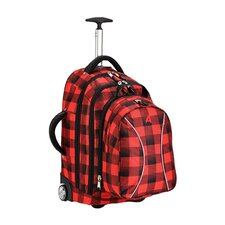 Wheeling Backpack in Lumber Jack Red