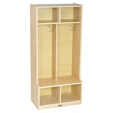 Two Section Locker in Natural
