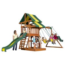 Independence Play & Swing Set in Green & Yellow
