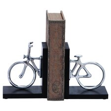 Cycle Bookend in Black & Silver