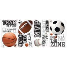 All Star Sports 24 Piece Wall Decal