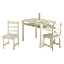 Kids' 3 Piece Table & Chair in White