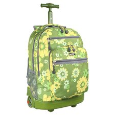 Sundance Flower Rolling Laptop Backpack in Green