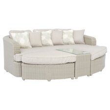 Monterrey 6 Piece Seating Group in Beige with Beige Cushions