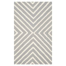 Cambridge Lines Silver & Ivory Rug
