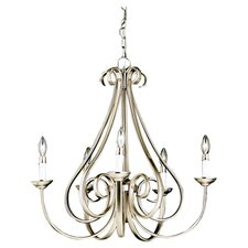 Dover 5 Light Chandelier in Brushed Nickel