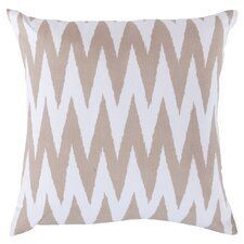 Eye-Catching Chevron Throw Pillow in Tan