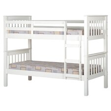 Neptune Single Convertible Bunk Bed in White