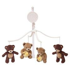 Honey Bear Musical Mobile in Brown