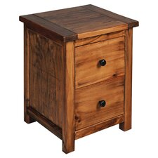 Denver 2 Drawer Bedside Table in Pine