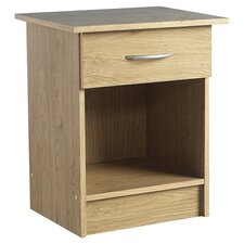 Newhaven 1 Drawer Bedside Table in Beech