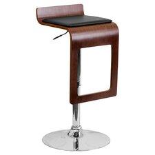 Bentwood Adjustable Barstool in Walnut