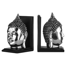 Buddha Bookend in Silver