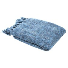 Marion Woven Throw in Blue