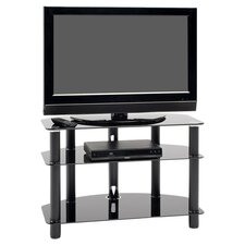 Dais Corner TV Stand in Black