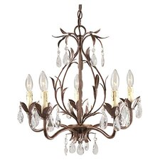 Bijoux 5 Light Mini Chandelier in Weathered Bronze