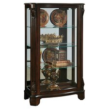 Mantel Curio Cabinet in Dark Cherry