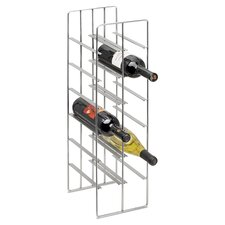 Pilare 12 Bottle Wine Rack in Matte Nickle
