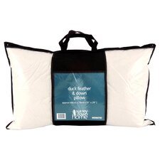 Cambric Duck Feather & Down Queen Pillow in White