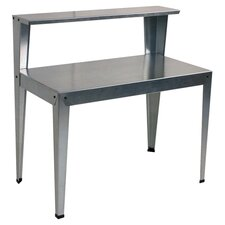 Galvanized Steel Potting Bench in Silver