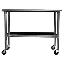 Morocco Stainless Steel Top Kitchen Cart in Silver