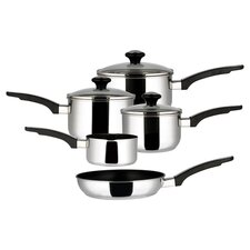 Everyday 8 Piece Nonstick Cookware Set in Silver
