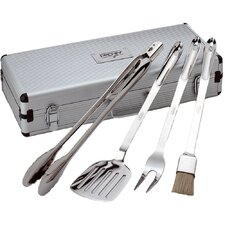 All-Clad 5 Piece Barbecue Tool Set in Stainless Steel