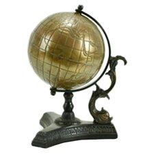 Nesoi Globe in Antique Brass
