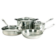 All-Clad Copper Core 7 Piece Cookware Set in Stainless Steel