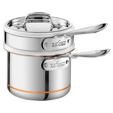 All-Clad Copper Core 1.5 Qt. Double Boiler in Stainless Steel
