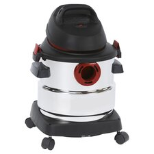 5 Gallon Wet & Dry Vacuum in Black & White