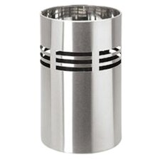 Slice Bathroom Bin in Silver