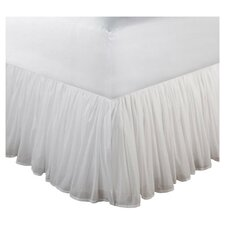 "Cotton Voile White 15"" Bedskirt"