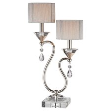 Table Lamp in Polished Nickel