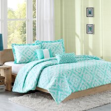 Laurent Comforter Set in Teal