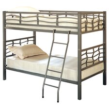 Echo Twin Over Twin Bunk Bed in Silver