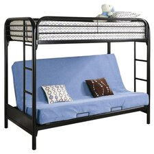 Elsie Twin Over Futon Loft Bed in Black