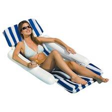 SunChaser Luxury Floating Lounger in Navy & White