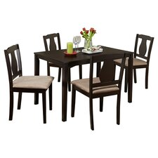 Kaylee 5 Piece Dining Set in Espresso