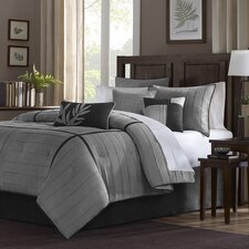 7-Piece Alma Comforter Set in Grey