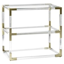 Jacques Lucite Side Table in Brass