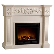 Downing Electric Fireplace in Ivory