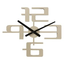 Big Time Geometric Wall Clock in Nickel
