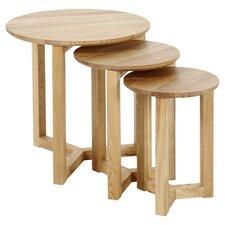 Eleanor 3 Piece Nest of Tables in Oak