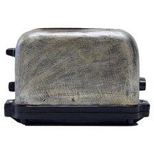 Retro Toaster Coin Bank in Silver