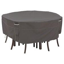 Ravenna Round Patio Table & Chair Set Cover in Charcoal