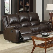 New York Reclining Sofa in Brown