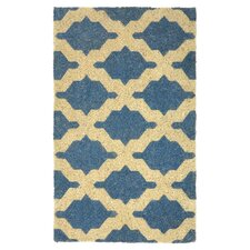 Isabella Coir 2.5' x 1.5' Doormat in Blue