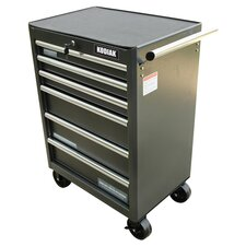 "27"" Pro Elite 6 Drawer Bottom Roller Chest in Grey"