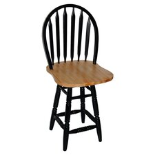 """Arrowback 24"""" Counter Stool in Black & Natural"""